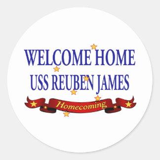 Välkomnande hem- USS Reuben James Rund Klistermärke
