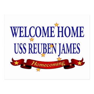 Välkomnande hem- USS Reuben James Vykort