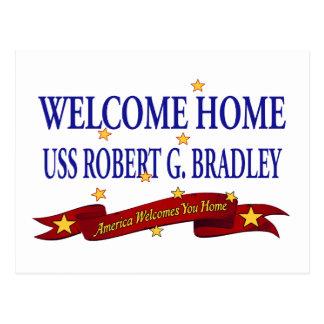 Välkomnande hem- USS Robert G. Bradley Vykort
