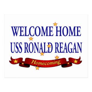 Välkomnande hem- USS Ronald Reagan Vykort