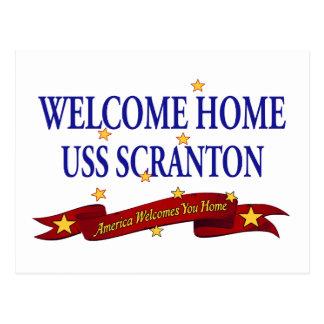 Välkomnande hem- USS Scranton Vykort