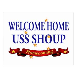 Välkomnande hem- USS Shoup Vykort