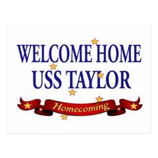 Välkomnande hem- USS Taylor Vykort