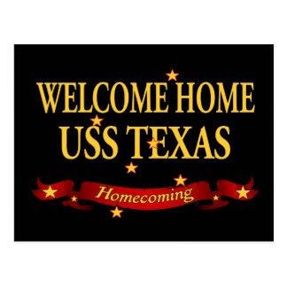 Välkomnande hem- USS Texas Vykort