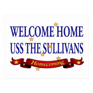 Välkomnande hem- USS TheSullivans Vykort