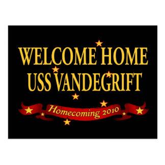 Välkomnande hem- USS Vandegrift Vykort