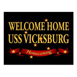 Välkomnande hem- USS Vicksburg Vykort