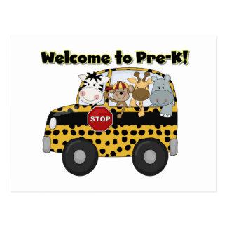 Välkomnande till den Pre-K vykortet Vykort