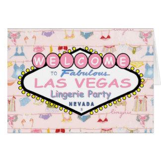 Välkomnande till det sagolika kortet för Las Vegas Hälsningskort