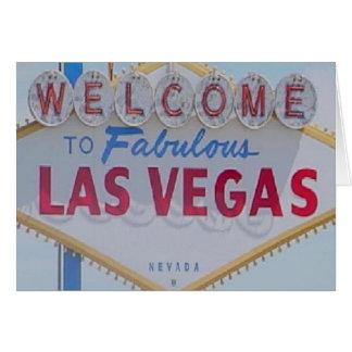 Välkomnande till det sagolika Las Vegas kortet Kort