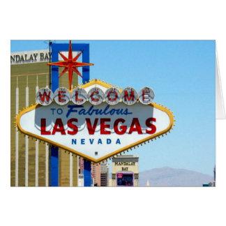 Välkomnande till det sagolika Las Vegas kortet Hälsnings Kort