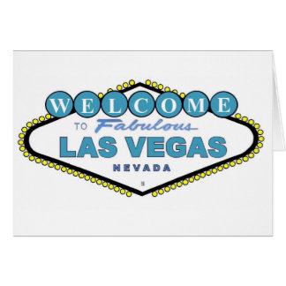Välkomnande till det sagolika Las Vegas meddelande Hälsnings Kort