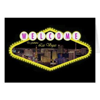Välkomnande till det sagolika Las Vegas remsakorte Kort