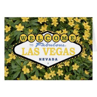 Välkomnande till det sagolika Las Vegas vårkortet Hälsningskort