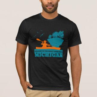 Välkomnande till Michigan (MI) - färglogo Tee Shirt