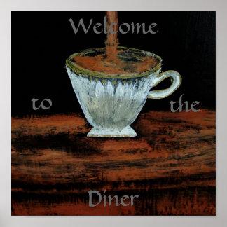 Välkomnande till middagTeatimeaffischen Print