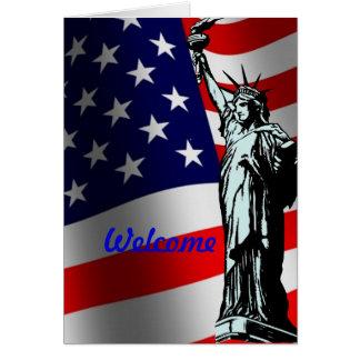 Välkomnande till USA-kortet Hälsningskort