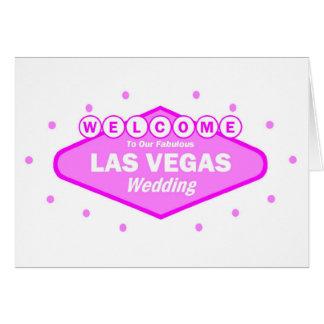 Välkomnande till vårt sagolika Las Vegas BRÖLLOPko Hälsningskort
