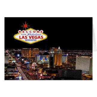 Välkomnande TILL VÅRT sagolika Las Vegas Hälsningskort
