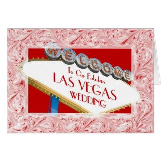 Välkomnande till vårt sagolika Las Vegas som gifta Kort