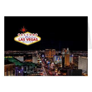 Välkomnande till vårt sagolika Las Vegas som gifta Hälsningskort