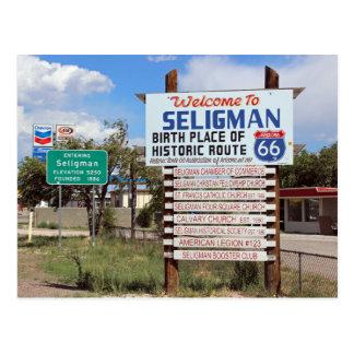 Välkomnande till vykortet för Seligman rutt 66! Vykort
