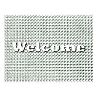 Välkomnande Vykort