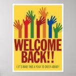 Välkomnandebaksida. Asl-affisch