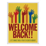 Välkomnandebaksida. Asl-affisch Poster