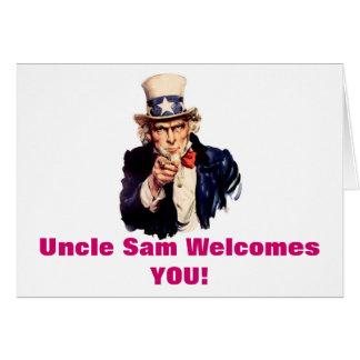 Välkomnanden för Uncle Sam som du card Hälsningskort