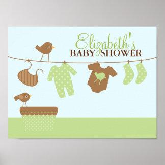 Välkomnandet för babytvättbaby shower undertecknar posters