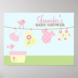 Välkomnandet för babytvättbaby shower undertecknar print