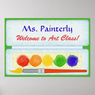 Välkomnandet för konstlärareklassrum undertecknar poster