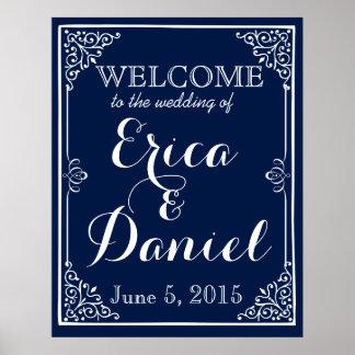 välkomnandet till bröllop av affischen poster