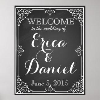 välkomnandet till bröllop av trycket undertecknar poster