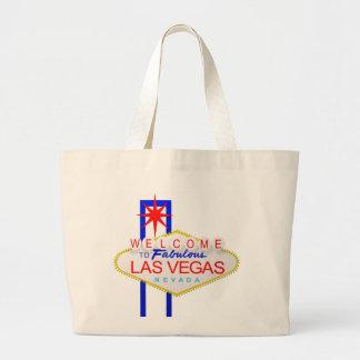 Välkomnandet till den Las Vegas Nevada kanfastotot Jumbo Tygkasse