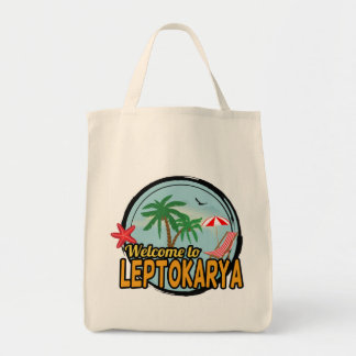 Välkomnandet till den Leptokarya totot hänger lös Tygkasse