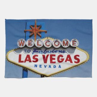 Välkomnandet till historiska sagolika Las Vegas Kökshandduk