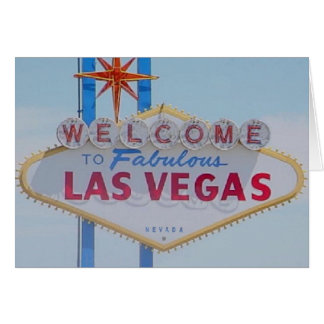 Välkomnandet till sagolika Las Vegas undertecknar  Hälsningskort