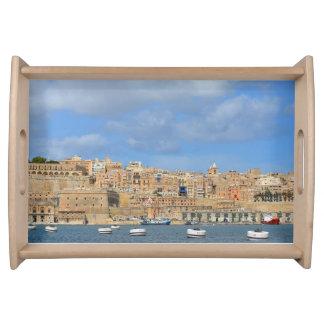 Valletta hamn, Malta portionmagasin Serveringsbricka