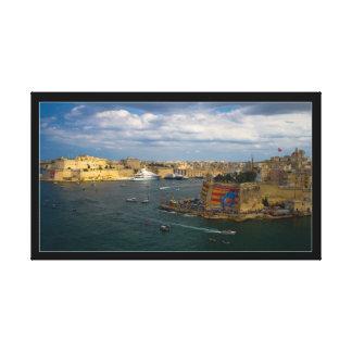 Valletta hamn (ön av Malta) Canvastryck