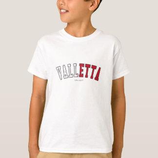 Valletta i färger för Malta medborgareflagga T Shirt
