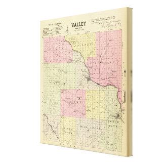 Valley County Nebraska Canvastryck