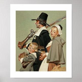 Vallfärda familjen. Konstaffisch Poster