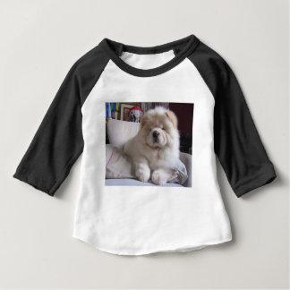 Valp för Chow för Chow för vitkrämPuff T-shirts
