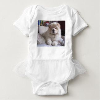 Valp för Chow för Chow för vitkrämPuff T Shirts