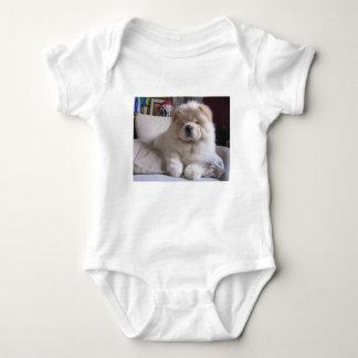 Valp för Chow för Chow för vitkrämPuff Tee Shirts