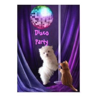 Valp för katt för hund för inbjudandiskoparty 12,7 x 17,8 cm inbjudningskort