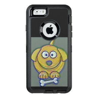 Valp med ett ben OtterBox defender iPhone skal