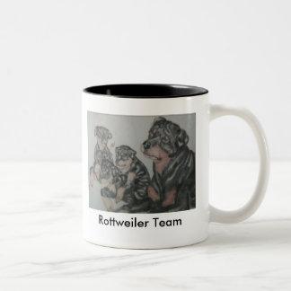 Valp- & Nina pic, Rottweiler lag Två-Tonad Mugg